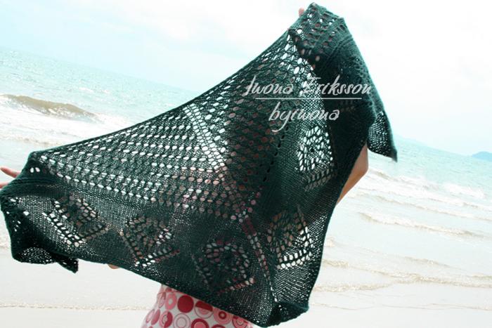 Chusta trójkątna na drutach
